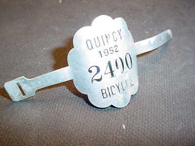 Bicycle License Plate Tag 1952 Fit B.f. Goodrich Firestone Vintage Nos