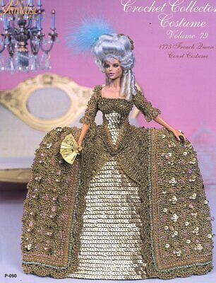 1775 French Queen's Court Costume for Barbie Paradise 79 Crochet PATTERN NEW