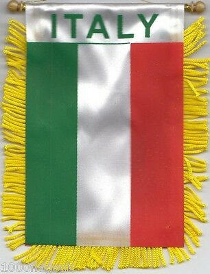 Italy Italia Flag Hanging Car Pennant for Car Window or Rearview Mirror