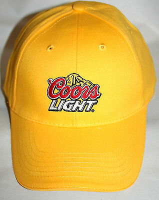 Coors Light Beer Advertising Yellow Color Baseball Cap Hat New One Size Fits All