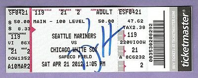 PHILIP HUMBER SIGNED PERFECT GAME TICKET STUB w/ PROOF! APRIL 21, 2012 WHITE SOX