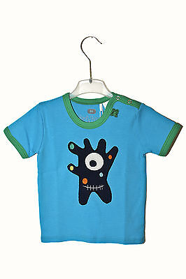 Green Cotton Baby T-Shirt blue Monster Gr. 80 neu