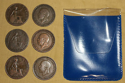 6 Shove Ha'penny board coins 1911-1936 you choose dates George V - Halfpenny