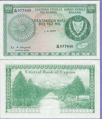 Cyprus 500 Mils 1979 About Uncirculated Cat42-C