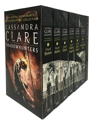 Cassandra Clare Mortal Instruments 6 Books City of Ashes, City of Bones & Glass