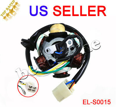 GY6 50 110 150cc ignition Stator Magneto 6 Coil Pole Scooter Moped TAOTAO JCL