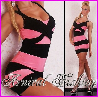 NEW LADIES SEXY MINI DRESS WOMENS HOT CLUBWEAR PARTY EVENING FORMAL COCKTAIL S M