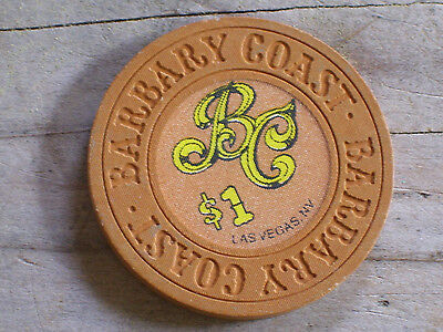 $1 4Th EDT GAMING CHIP THE BARBARY COAST CASINO LV NV