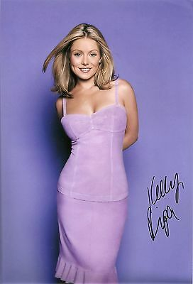 Kelly Ripa Genuine Authentic Signed 8X12 Photo Aftal & Uacc In Person [6172]