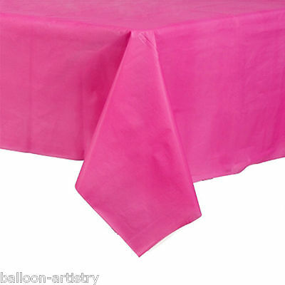 54x108in Bright Pink Plastic Tablecover Table Cover Cloth Wedding Catering