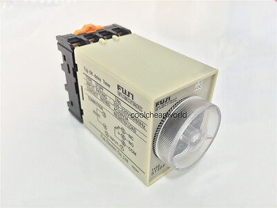 ST3PF DC 24V 60S Power Off Delay Timer Time Relay 24VDC 0-60 Second with Base