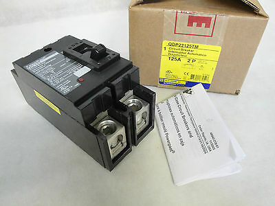 New In Box Square D Qdp22125Tm Circuit Breaker 2 Pole 125 Amp