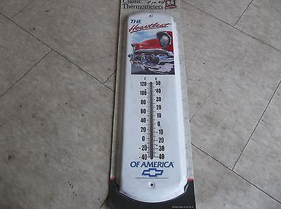 Chevy Chevrolet Classic Thermometer Indoor and Outdoor Thermometer