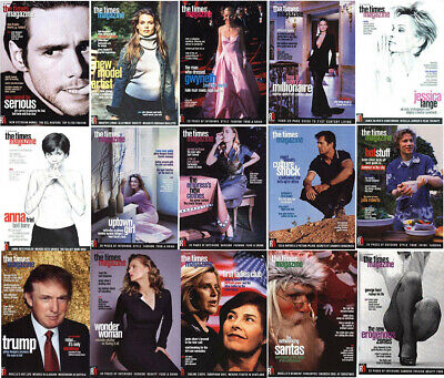 THE TIMES UK MAGAZINE - Large Collection, Individual Issues - STAR INTERVIEWS