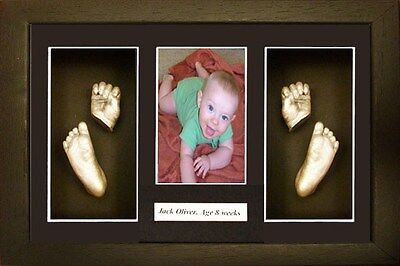 Baby Casting kit Gift foot / hand cast  with name Black