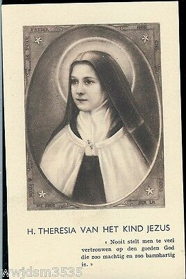 "St.Therese Holy Card Special Picture German Lang. 4"" by 3"" Special Card Indulg."