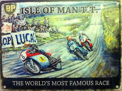 Isle of Man TT, Motorcycle Racing, Classic/Vintage Small Metal/Tin Sign, Picture