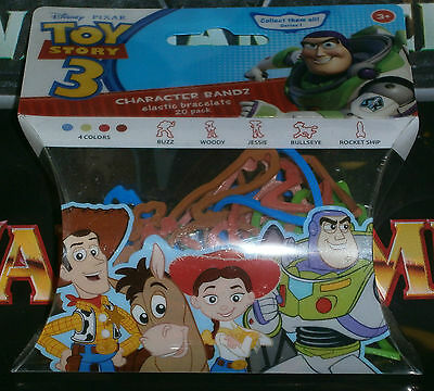 Silly Bandz Toy Story 3 20 pack Character Bandz MIP