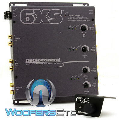 Grey 6Xs Audio Control 6 Channel Crossover With Bass Remote Audiocontrol New