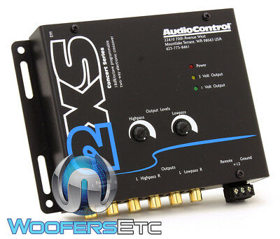 Grey 2Xs Audio Control 2-Channel 9 Volts Electronic Crossover Audiocontrol New