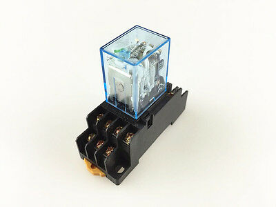10sets 110V AC Coil Power Relay MY3NJ HH53P 11 Pin 3NO 3NC 5A With Socket Base