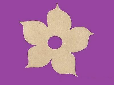 Sujet ou support a decorer en bois medium mdf fleur hawai