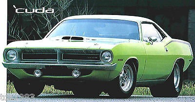 1970 PLYMOUTH HEMI CUDA 426 SPEC SHEET/Brochure:MOPAR