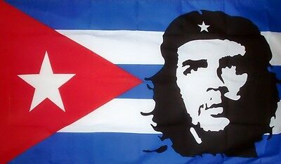 CHE GUEVARA CUBA FLAG 3X2 FEET Communist Revolutionary CUBAN MILITANT REBEL