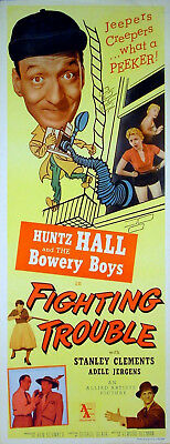 FIGHTING TROUBLE 1956 Bowery Boys US INSERT POSTER