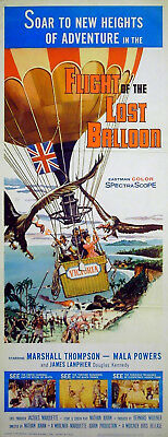 FLIGHT OF THE LOST BALLOON 1961 Marshall Thompson Mala Powers US 14x36 POSTER