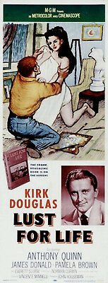LUST FOR LIFE 1956 Kirk Douglas, Anthony Quinn VINCENT VAN GOGH US 14x36 POSTER