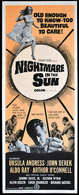 NIGHTMARE IN THE SUN 1965 Ursula Andress, Sammy Davis Jr. US INSERT POSTER