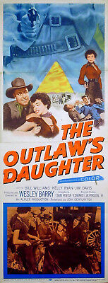 OUTLAW'S DAUGHTER 1954 Bill Williams, Jim Davis US INSERT POSTER