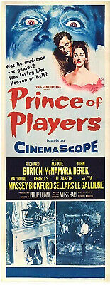 PRINCE OF PLAYERS 1955 Richard Burton, Maggie McNamara US INSERT POSTER