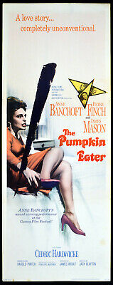 PUMPKIN EATER 1964 Jack Clayton, Anne Bancroft, Peter Finch US INSERT POSTER
