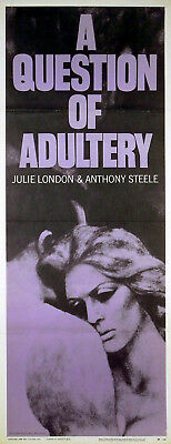 QUESTION OF ADULTERY 1958 Julie London, Anthony Steel US INSERT POSTER