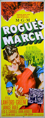 ROGUE'S MARCH 1953 Peter Lawford, Richard Greene INSERT POSTER