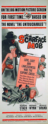 SCARFACE MOB 1959 Robert Stack, Neville Brand US INSERT POSTER