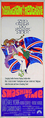 SMASHING TIME 1967 Rita Tushingham, Lynn Redgrave, Michael York US 14x36 POSTER