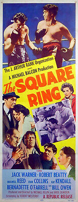 SQUARE RING 1953 Robert Beatty Joan Collins BOXING EALING US INSERT POSTER