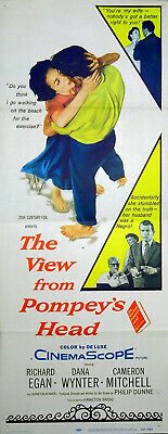 VIEW FROM POMPEY'S HEAD 1955 Richard Egan, Dana Wynter INSERT POSTER