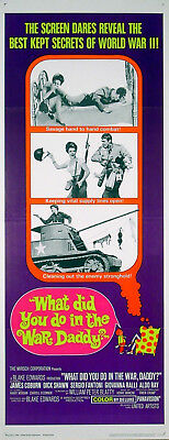 WHAT DID YOU DO IN THE WAR DADDY? 1966 James Coburn US INSERT POSTER