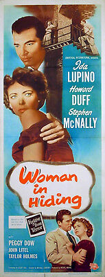 WOMAN IN HIDING 1950 Ida Lupino, Howard Duff Stephen McNally US INSERT POSTER