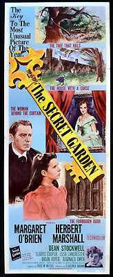 SECRET GARDEN 1949 Margaret O'Brien, Herbert Marshall US INSERT POSTER