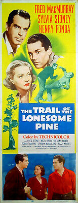TRAIL OF THE LONESOME PINE 1936 Sylvia Sidney, Fred MacMurray INSERT POSTER
