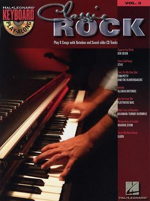 Keyboard Play-Along Classic Rock Learn to Play Styx Queen Music Book