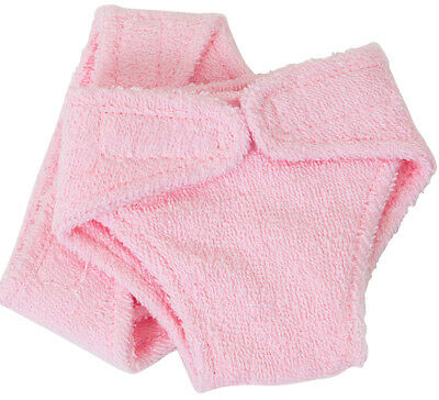 TWO PACK PINK MEDIUM DOLLS NAPPIES ONLY £5 TO FIT MOST 18-20 ins BABY ANNABELL