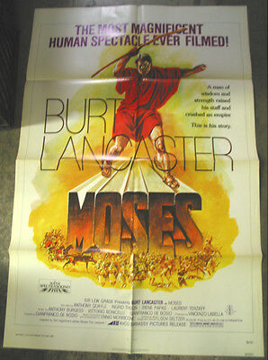 Moses / Original U.s. One-Sheet Movie Poster (Burt Lancaster)