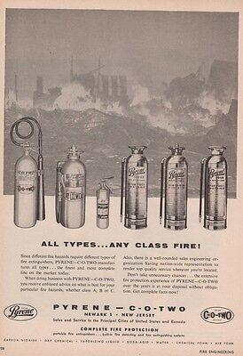 PYRENE FIRE EXTINGUISHERS FOR 1955   AD