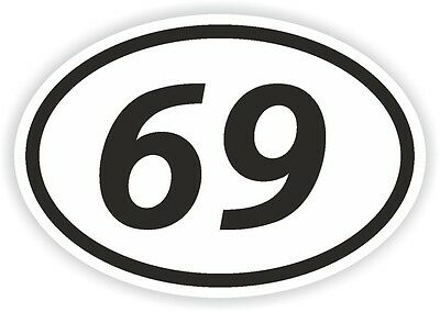 73 SEVENTY-THREE NUMBER OVAL STICKER bumper decal motocross motorcycle Aufkleber
